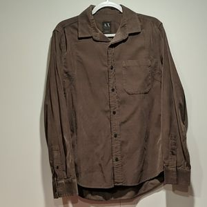 Armani Exchanged Long Sleeve Brown Shirt